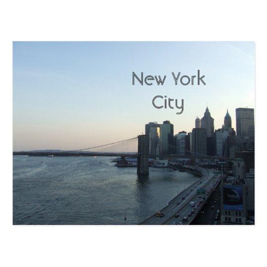 NYC New York City postcard
