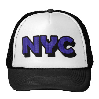 NYC New York City Text Trucker Hat Travel