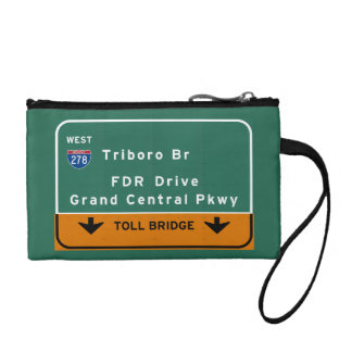 NYC New York City Triboro Br FDR Drive Interstate Coin Purse