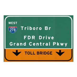 NYC New York City Triboro Br FDR Drive Interstate Photo Print