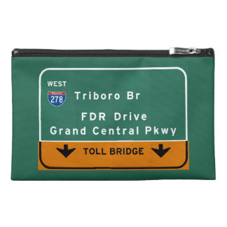 NYC New York City Triboro Br FDR Drive Interstate Travel Accessory Bag