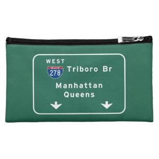 NYC New York City Triboro Br Manhattan Interstate Makeup Bag