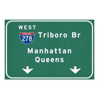 NYC New York City Triboro Br Manhattan Interstate Photo Print