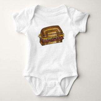 NYC New York Deli Reuben Sandwich Baby Suit Baby Bodysuit
