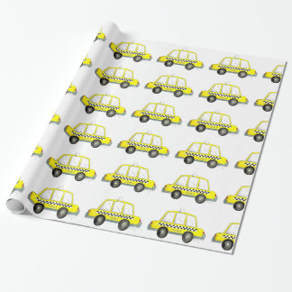 NYC New York Yellow Checkered Taxi Cab Gift Wrap