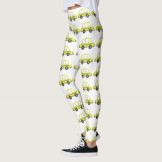 NYC New York Yellow Checkered Taxi Cab Leggings