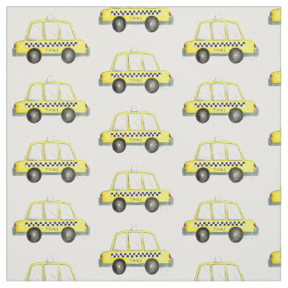 NYC New York Yellow Taxi Cabbie Checkered Cab Fabric