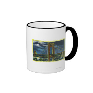 NYC New YorkGeorge Washington Bridge at Night Mugs