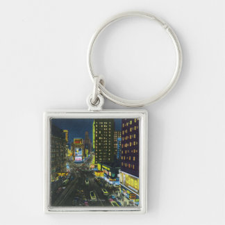 NYC, New YorkView of Times Square at Night # 1 Keychains