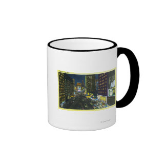 NYC New YorkView of Times Square at Night 1 Coffee Mugs
