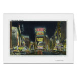 NYC, New YorkView of Times Square at Night # 2 Greeting Card