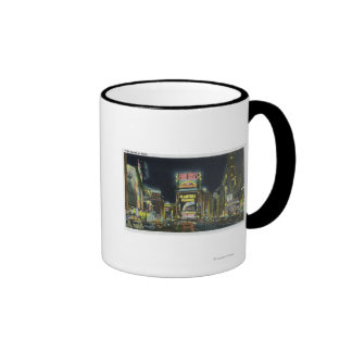 NYC New YorkView of Times Square at Night 2 Coffee Mug