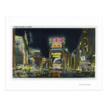 NYC, New YorkView of Times Square at Night # 2 Post Card
