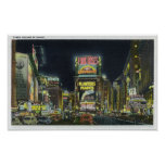 NYC, New YorkView of Times Square at Night # 2 Poster