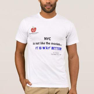 NYC no es como el camisetas de las películas