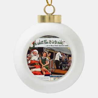 NYC,Oh What Fun it Is Ceramic Ball Christmas Ornament