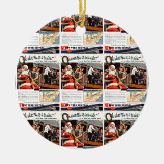 NYC,Oh What Fun it Is Ceramic Ornament