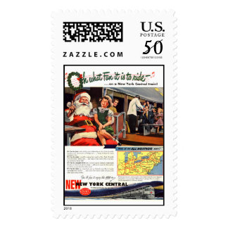 NYC,Oh What Fun it Is Postage Stamps