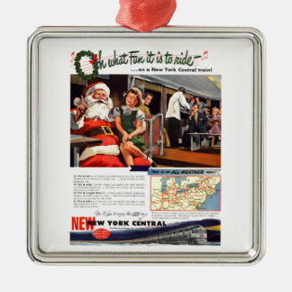 NYC,Oh What Fun it Is Premium Square Ornament