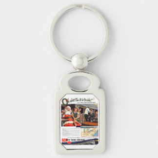 NYC,Oh What Fun it Is Rectangle Keychain