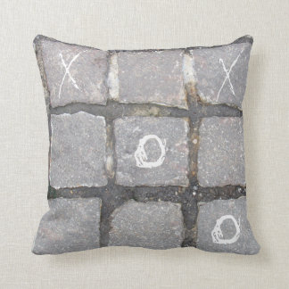 NYC On the Street Pillow-Cobblestone Tic Tac Toe Throw Pillow
