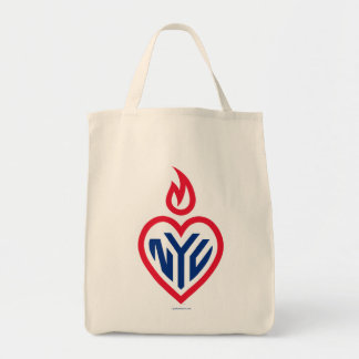 NYC Organic Grocery Tote - Gotham Heart Tote Bag