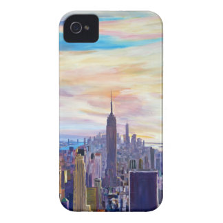 NYC Panorama with WTC, Chrysler and Empire State iPhone 4 Case