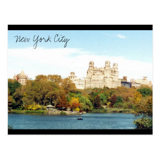 nyc park colors post card
