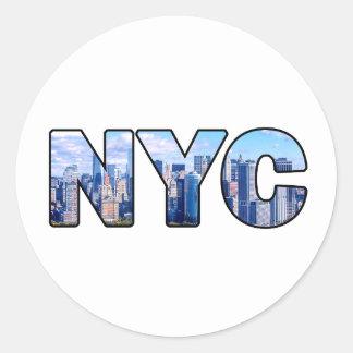 NYC PEGATINA REDONDA
