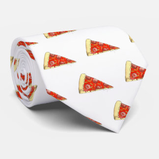 NYC Pepperoni Cheese Pizza Slice Pizzeria Foodie Neck Tie