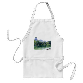 NYC Pond in Central Park Canvas Print Adult Apron