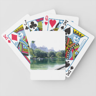 NYC Pond in Central Park Canvas Print Bicycle Playing Cards