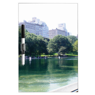 NYC Pond in Central Park Canvas Print Dry-Erase Whiteboards