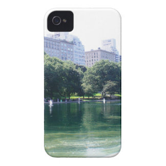 NYC Pond in Central Park Canvas Print iPhone 4 Cover