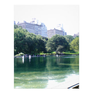 NYC Pond in Central Park Canvas Print Letterhead