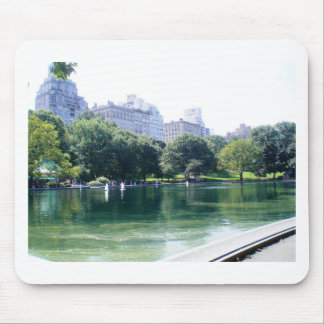 NYC Pond in Central Park Canvas Print Mouse Pad