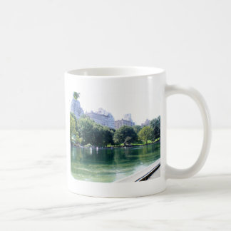 NYC Pond in Central Park Canvas Print Classic White Coffee Mug