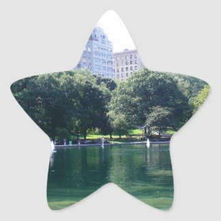 NYC Pond in Central Park Canvas Print Star Sticker