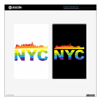 NYC Pride Rainbow Decal For Kindle Fire