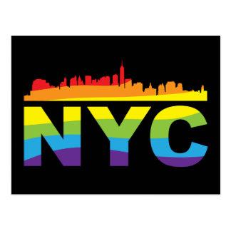 NYC Pride Rainbow Postcard