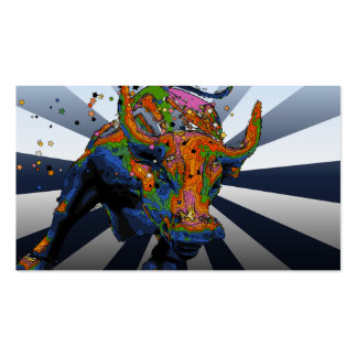 NYC psicodélico: Bull de carga de Wall Street Tarjetas De Visita