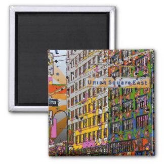 NYC psicodélico: Edificio cuadrado de la unión, Imán Cuadrado