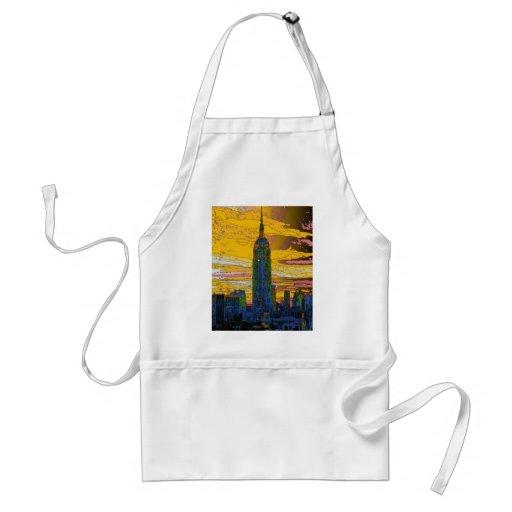 NYC psicodélico: Empire State Building B4 Delantales