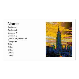 NYC psicodélico: Empire State Building B4 Tarjetas De Visita