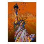 NYC psicodélico: Estatua de la libertad 001 Tarjetón