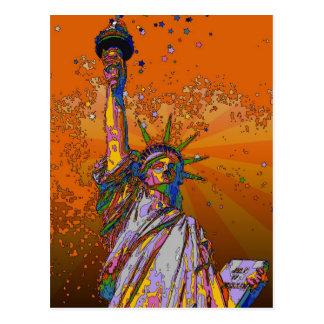 NYC psicodélico: Estatua de la libertad 001 Postal