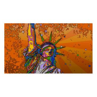 NYC psicodélico: Estatua de la libertad 001 Tarjetas De Visita