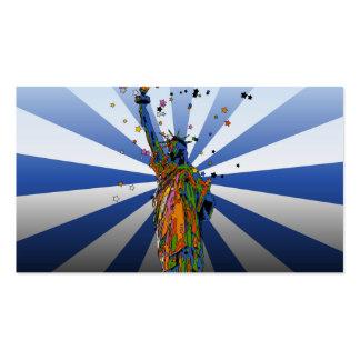 NYC psicodélico: Estatua de la libertad #2 Tarjetas De Visita