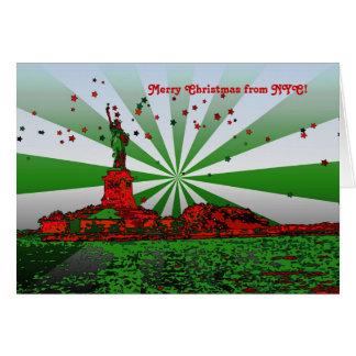 NYC psicodélico: Estatua del navidad N-F de la Tarjeta De Felicitación