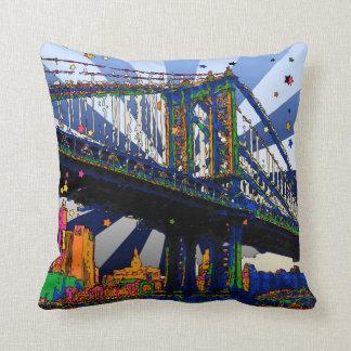 NYC psicodélico: Puente #1 de Manhattan Almohada